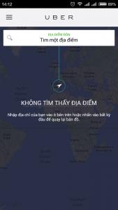 định vị uber không tìm thấy