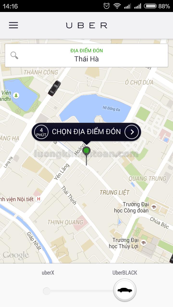 Định vị Uber chính xác nhất trên SmartPhone