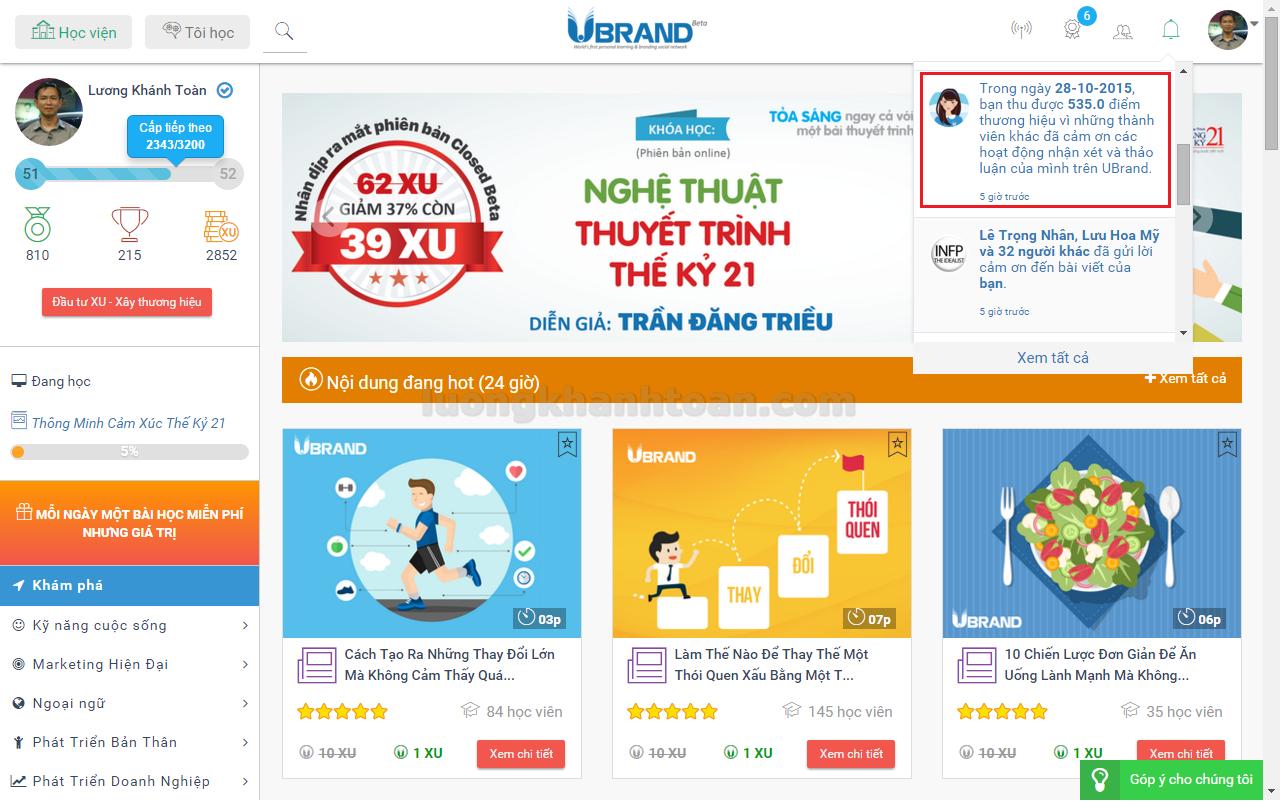 7 phương pháp tăng điểm thương hiệu UBrand thụ động