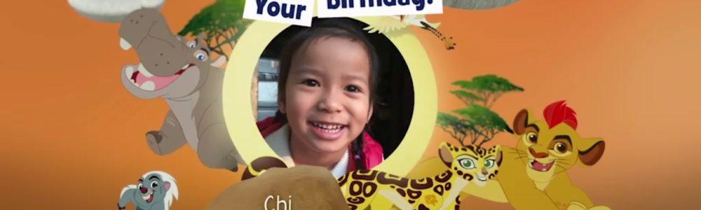 Làm thế nào gửi ảnh sinh nhật bé lên Disney Junior